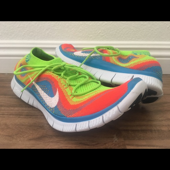 4dc0b44588ca Nike Flyknit Free 5.0 Rainbow US Men 11 615805-316.  M 5c8457189539f727a61bd3eb. Other Shoes ...